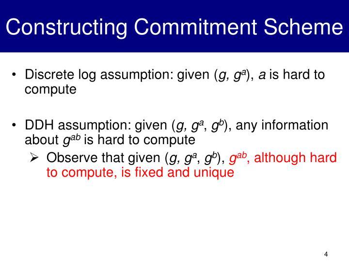 Constructing Commitment Scheme