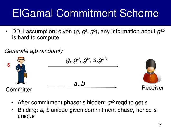 ElGamal Commitment Scheme