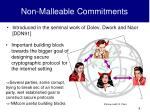 non malleable commitments