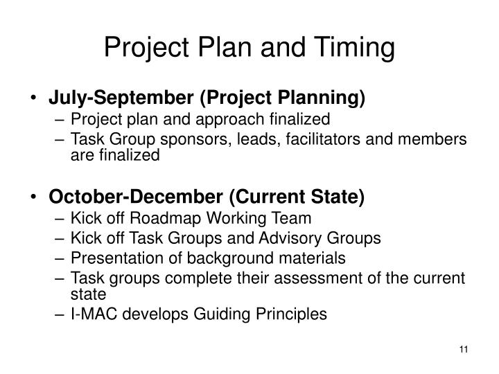 Project Plan and Timing