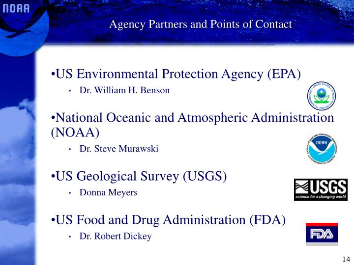 Agency Partners and Points of Contact