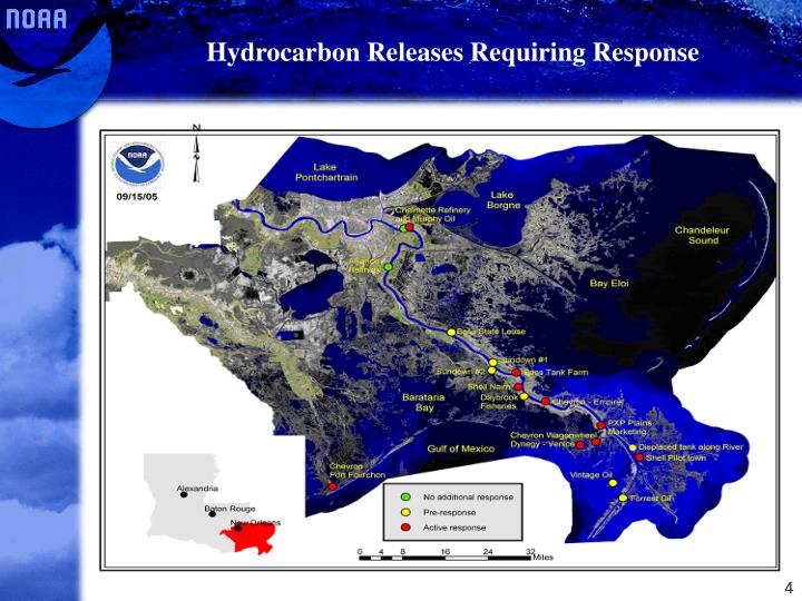 Hydrocarbon Releases Requiring Response