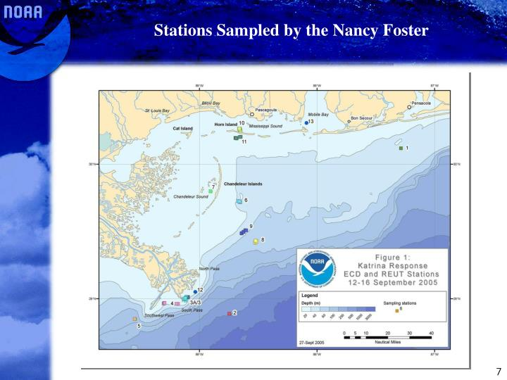 Stations Sampled by the Nancy Foster