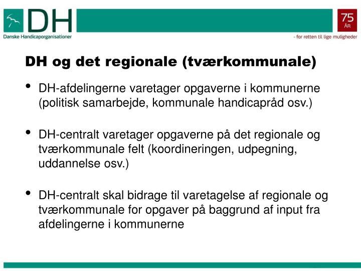 DH og det regionale (tværkommunale)