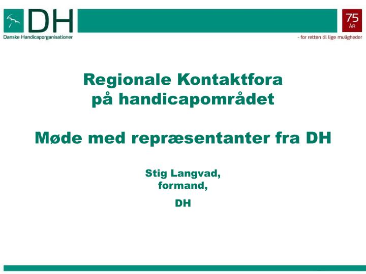 Regionale Kontaktfora