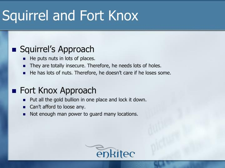 Squirrel and Fort Knox