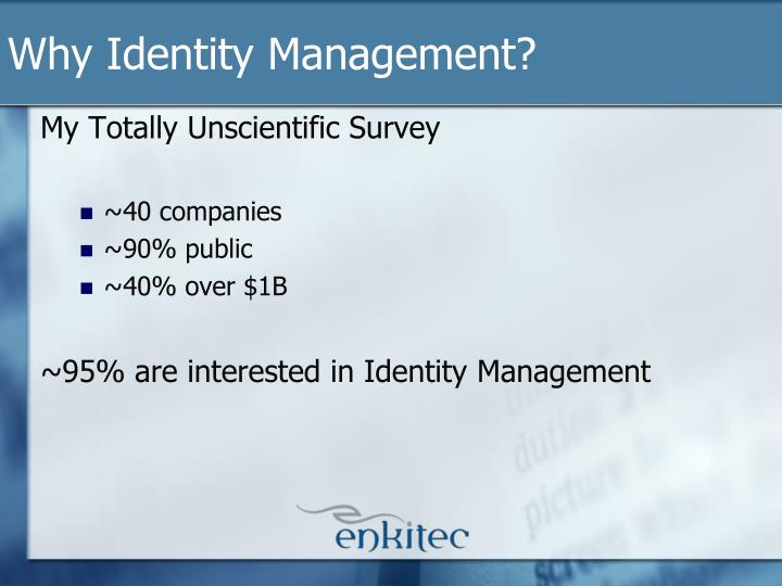 Why identity management