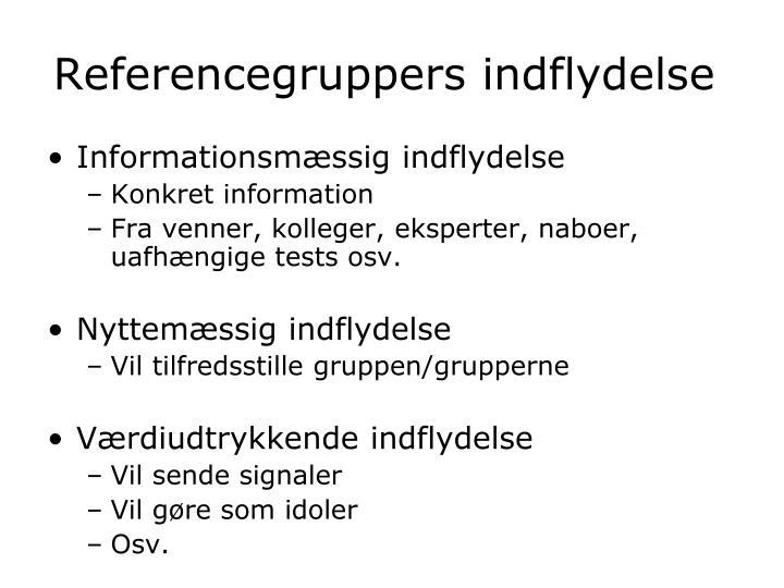 Referencegruppers indflydelse