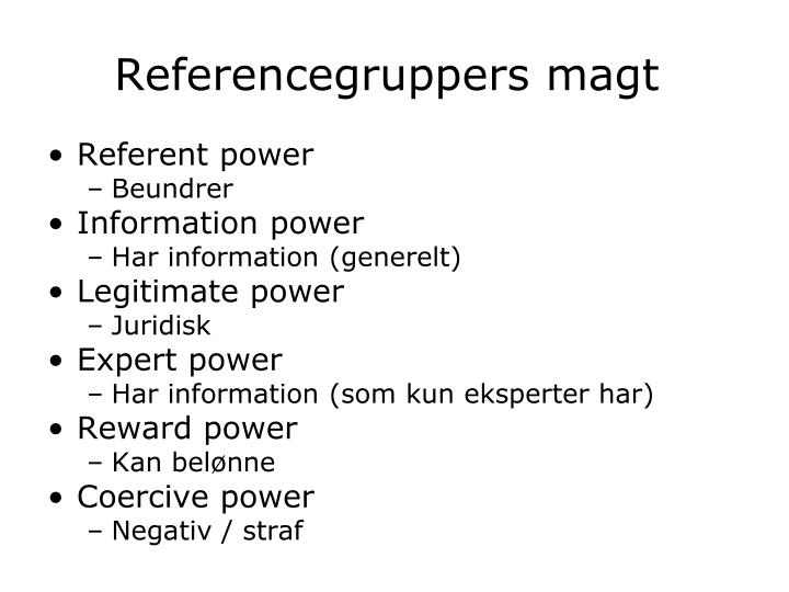 Referencegruppers magt