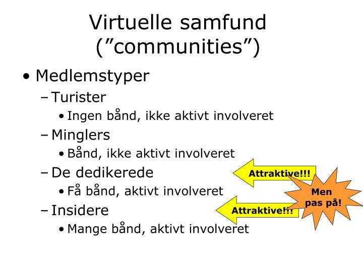 "Virtuelle samfund (""communities"")"