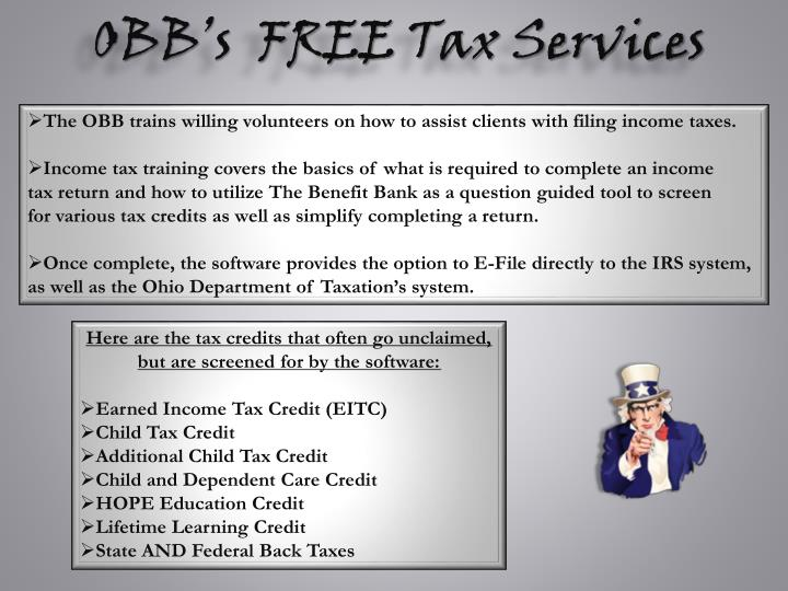 OBB's  FREE Tax Services
