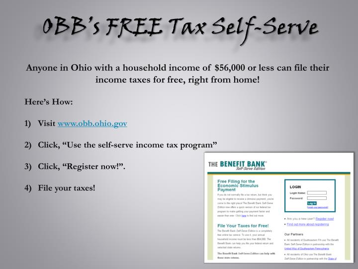 OBB's FREE Tax Self-Serve