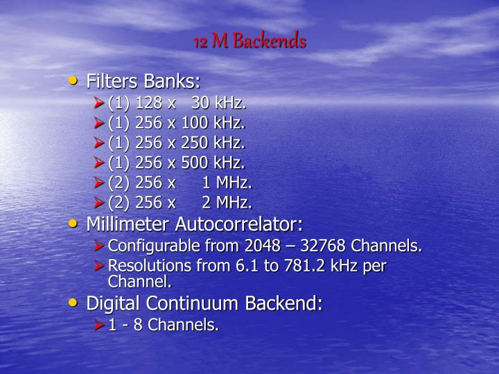 12 M Backends