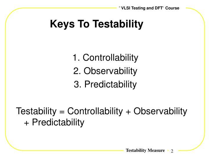 Keys To Testability