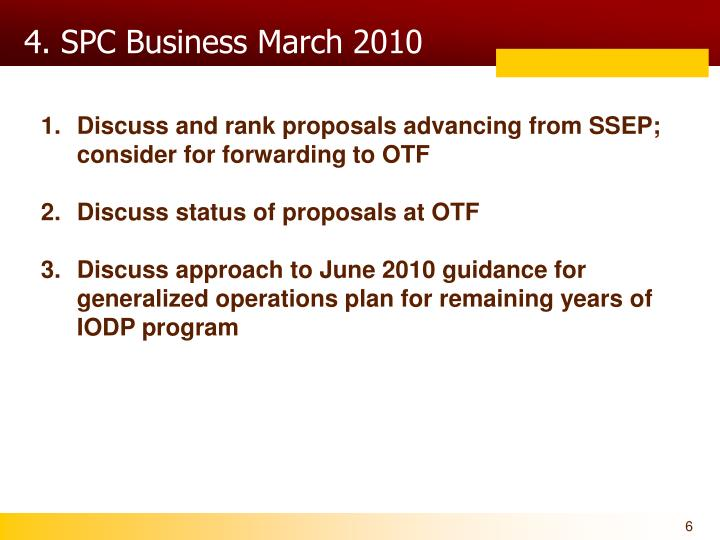 4. SPC Business March 2010