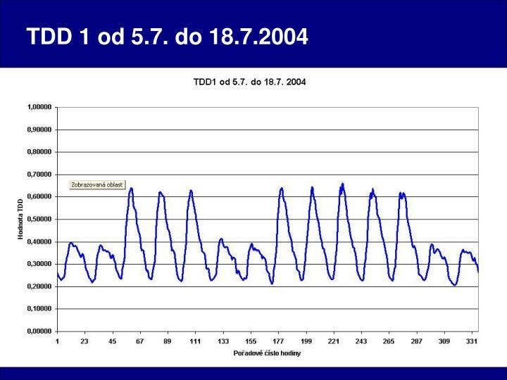TDD 1 od 5.7. do 18.7.2004