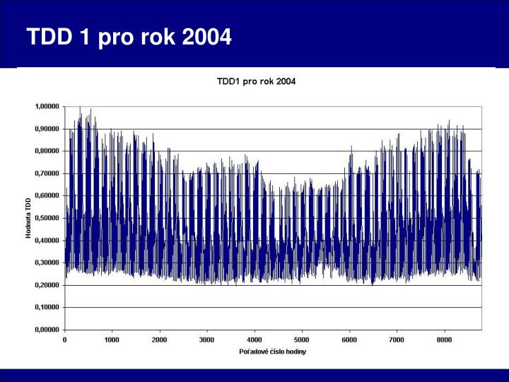 TDD 1 pro rok 2004