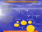 estimation of number of idps