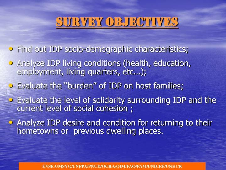 Survey Objectives