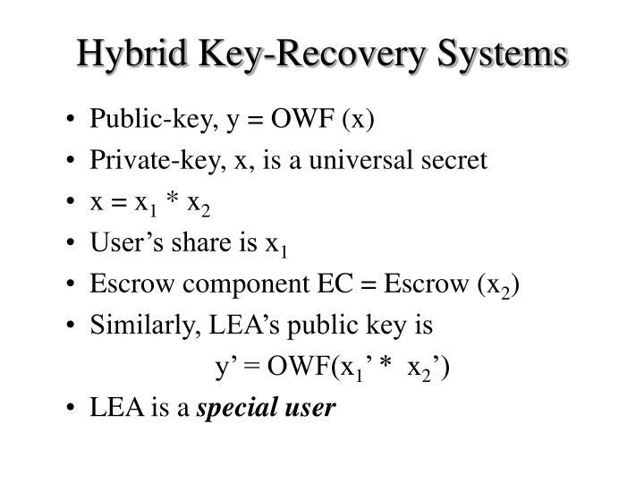 Hybrid Key-Recovery Systems