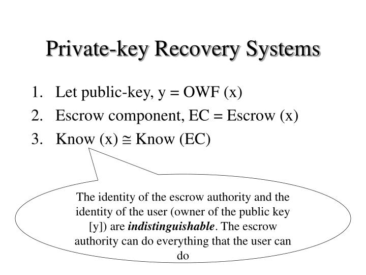 Private-key Recovery Systems