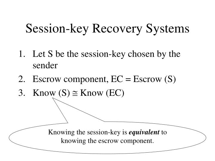Session-key Recovery Systems