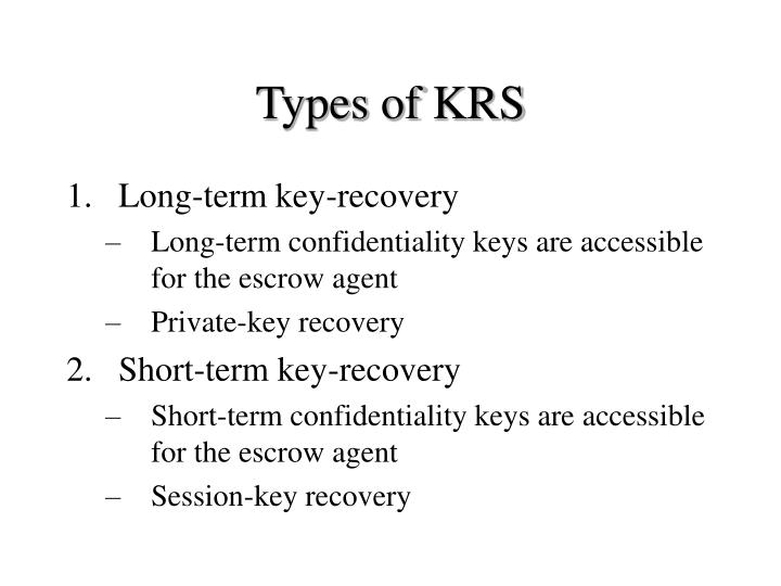 Types of KRS