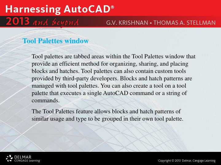 Tool Palettes window