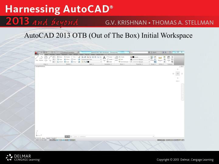 AutoCAD 2013 OTB (Out of The Box) Initial Workspace