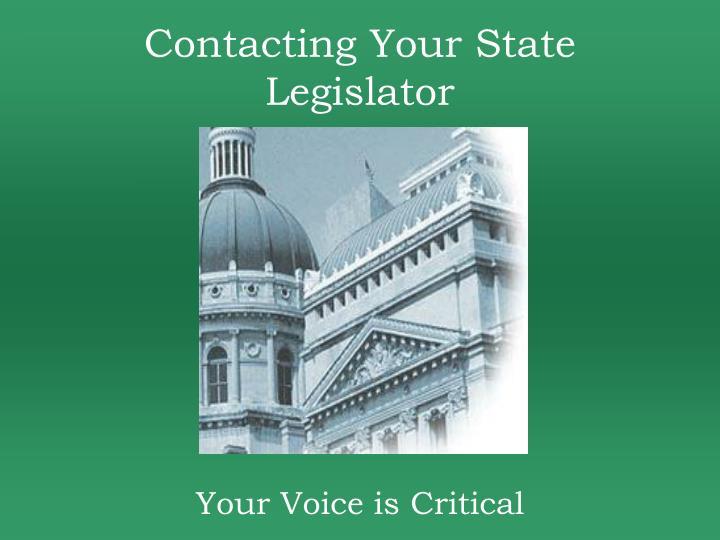 Contacting Your State Legislator