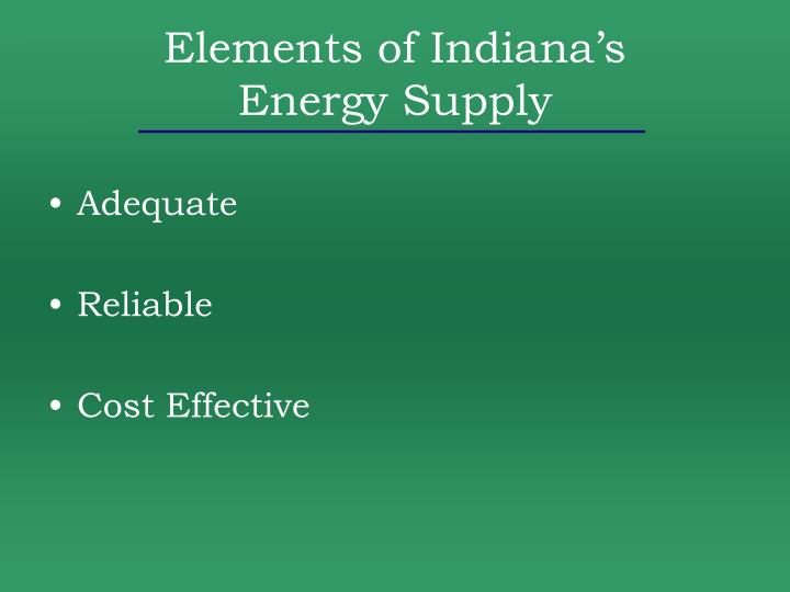 Elements of Indiana's