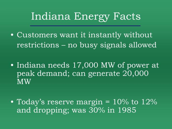 Indiana Energy Facts