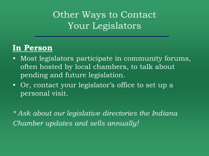Other Ways to Contact