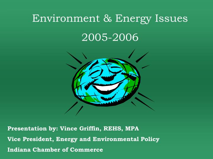 Environment & Energy Issues