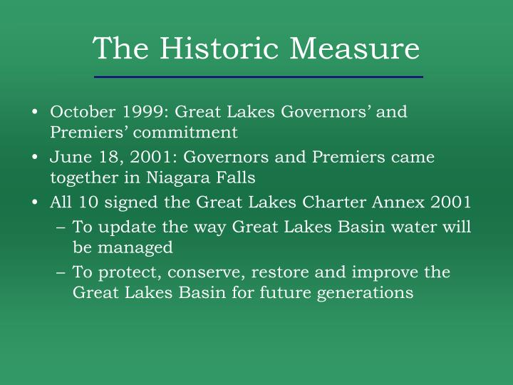 The Historic Measure