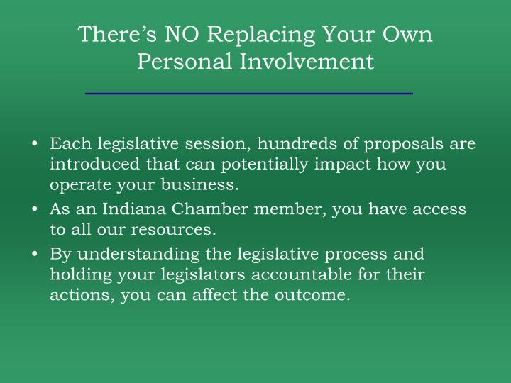 There's NO Replacing Your Own Personal Involvement