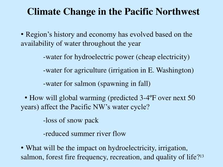 Climate Change in the Pacific Northwest