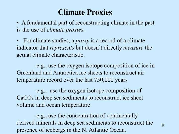 Climate Proxies