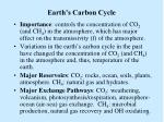 earth s carbon cycle