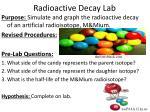 radioactive decay lab