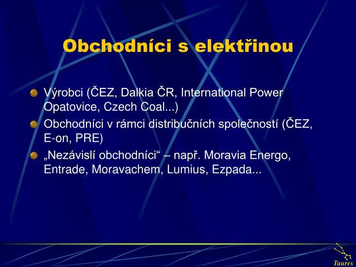 Obchodníci s elektřinou