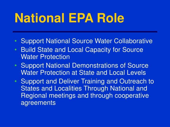 National EPA Role
