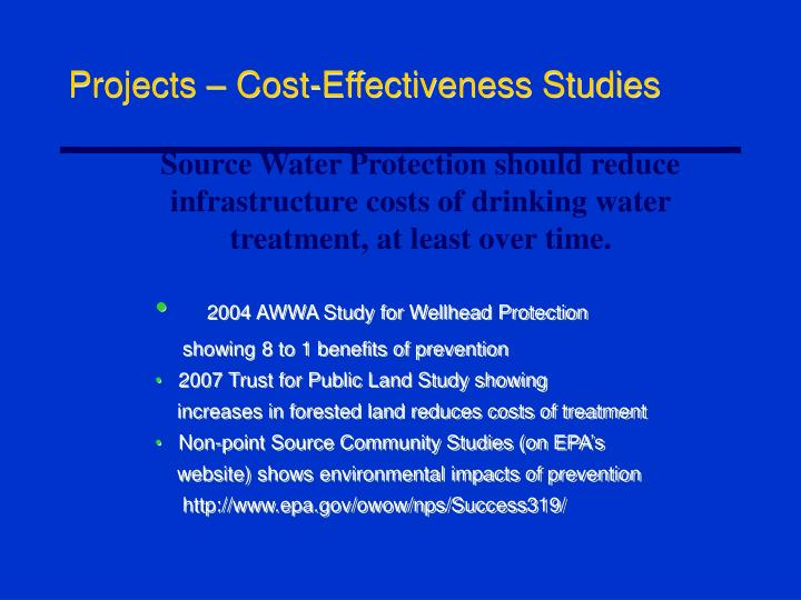 Projects – Cost-Effectiveness Studies