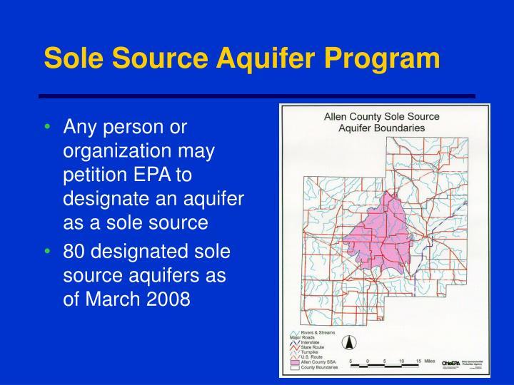 Sole Source Aquifer Program