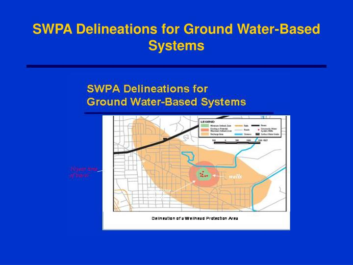 SWPA Delineations for Ground Water-Based Systems