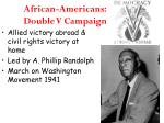 african americans double v campaign