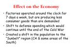 effect on the economy