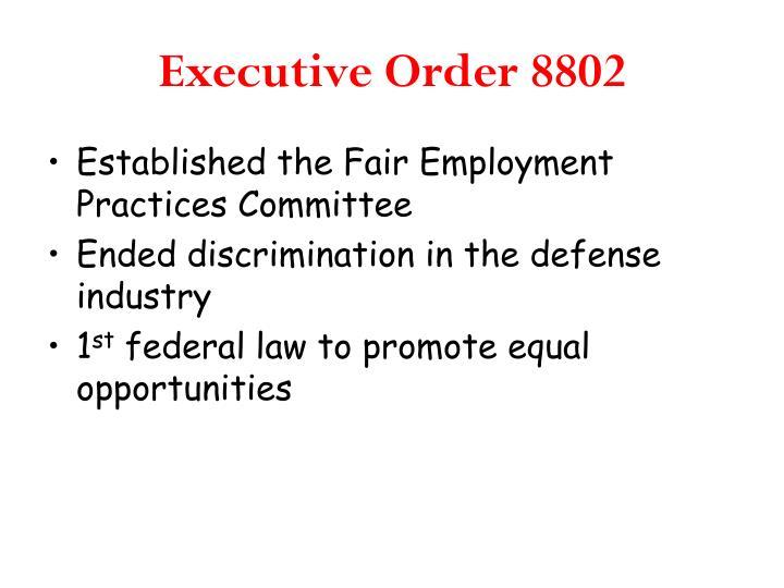 Executive Order 8802