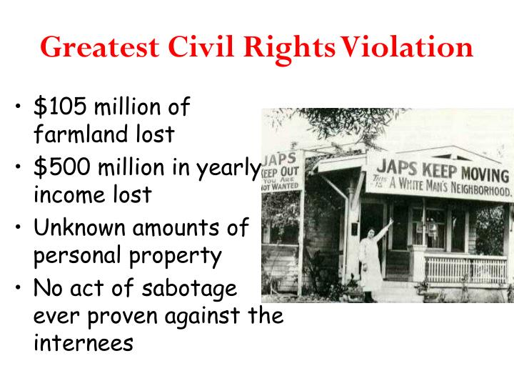 Greatest Civil Rights Violation