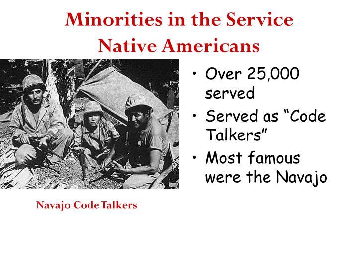 Minorities in the Service